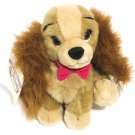 "Disney Lady And The Tramp 8"" Lady sitting plush with tag"