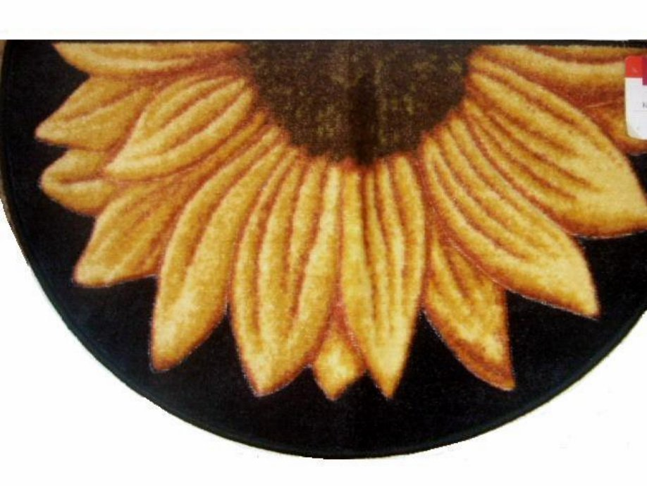 Sunflower Rug Carved Accent Mat