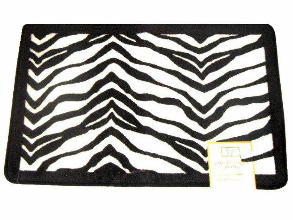 Popular Bath Zebra Stripe Bath Mat