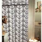 Popular Bath Zebra Stripe Fabric Shower Curtain