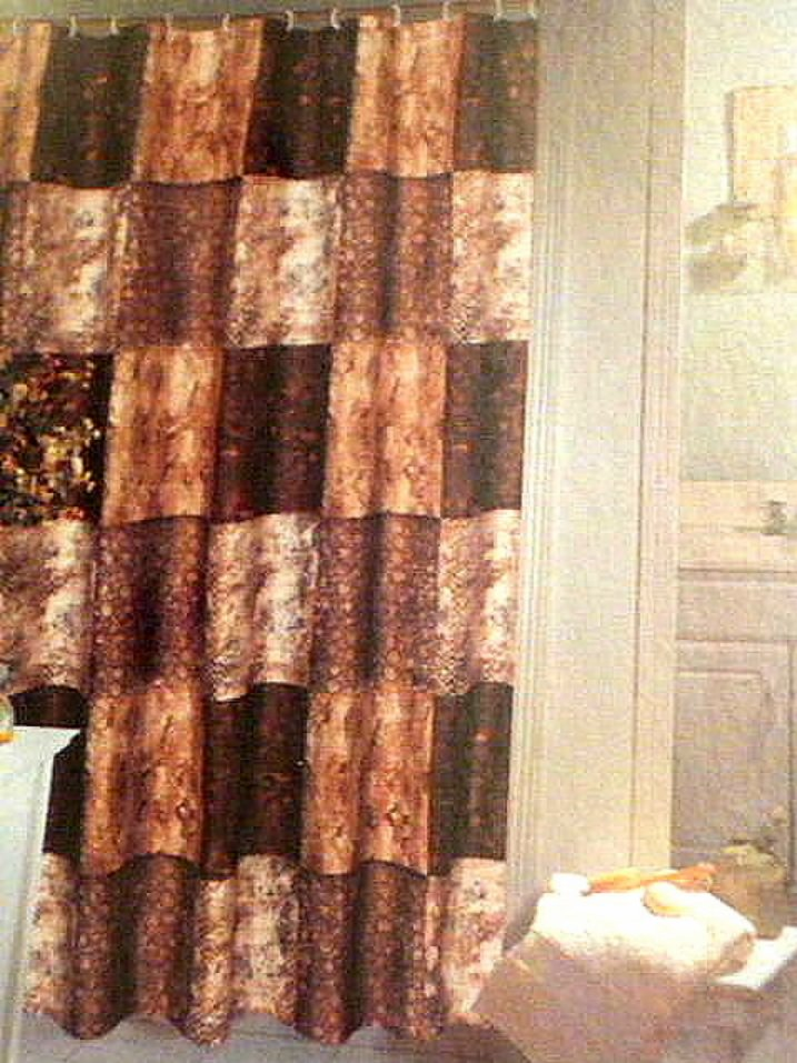 zambia animal print fabric shower curtain