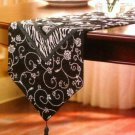 Black White Table Runner Chris Madden Mali