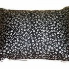 Black Gray Cheetah Print Toss Pillow