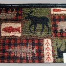 Large Moose Bear Area Rug Cabin Lodge Decor