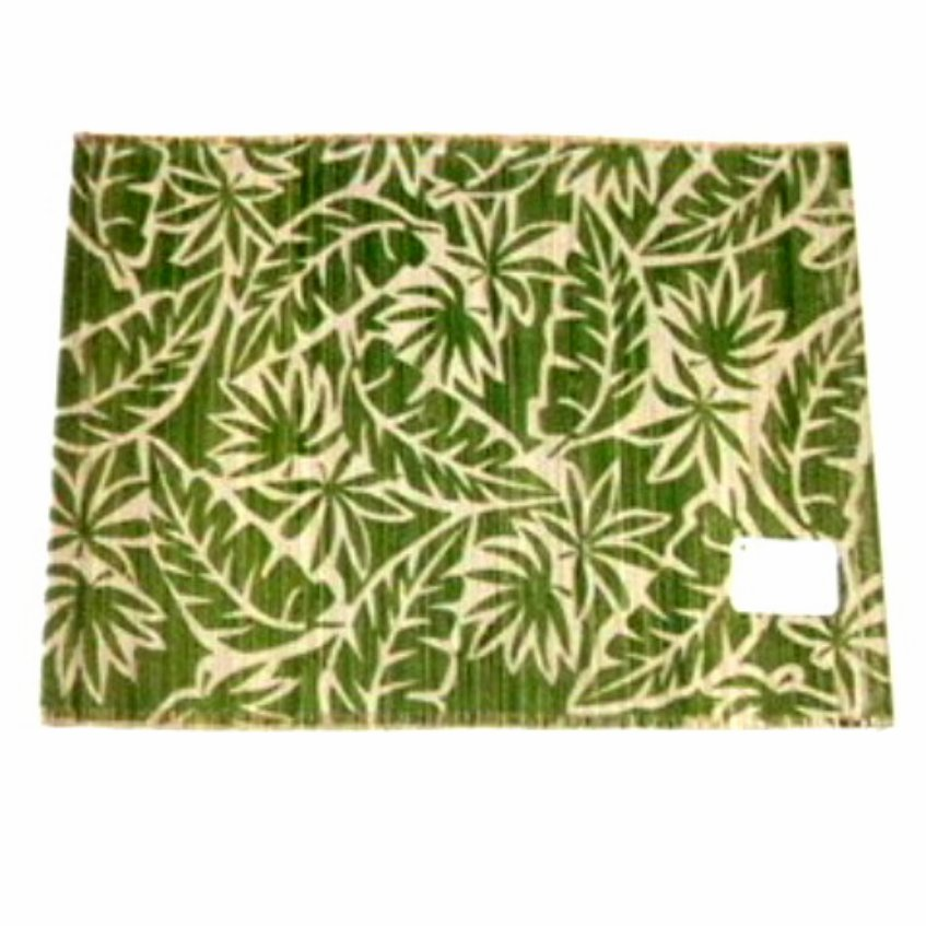 Tropical Fabric Placemats Botanical Leaf