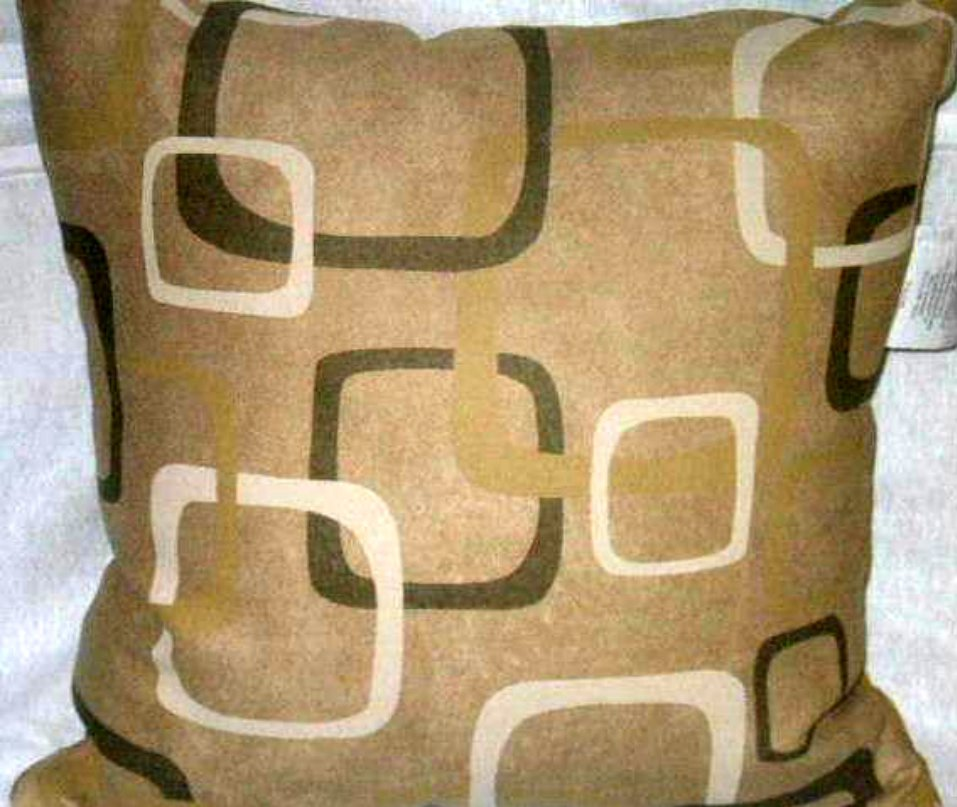 Faux Suede Contemporary Geometric Pillow