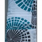 Turquoise Geometric Fabric Shower Curtain