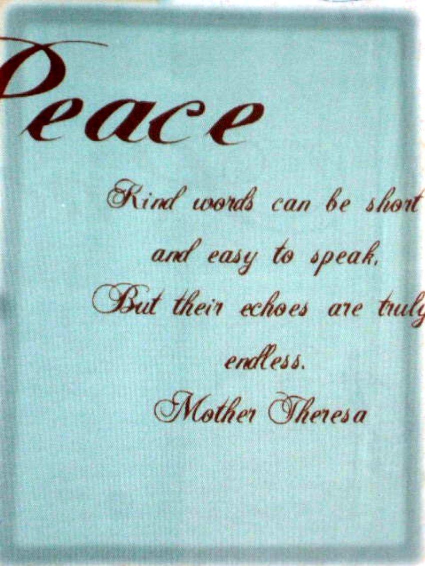 Inspirational Hope Peace Love Fabric Shower Curtain