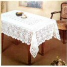 White Crochet Tablecloth Vinyl