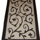 Beige Brown Scrolled Area Rug