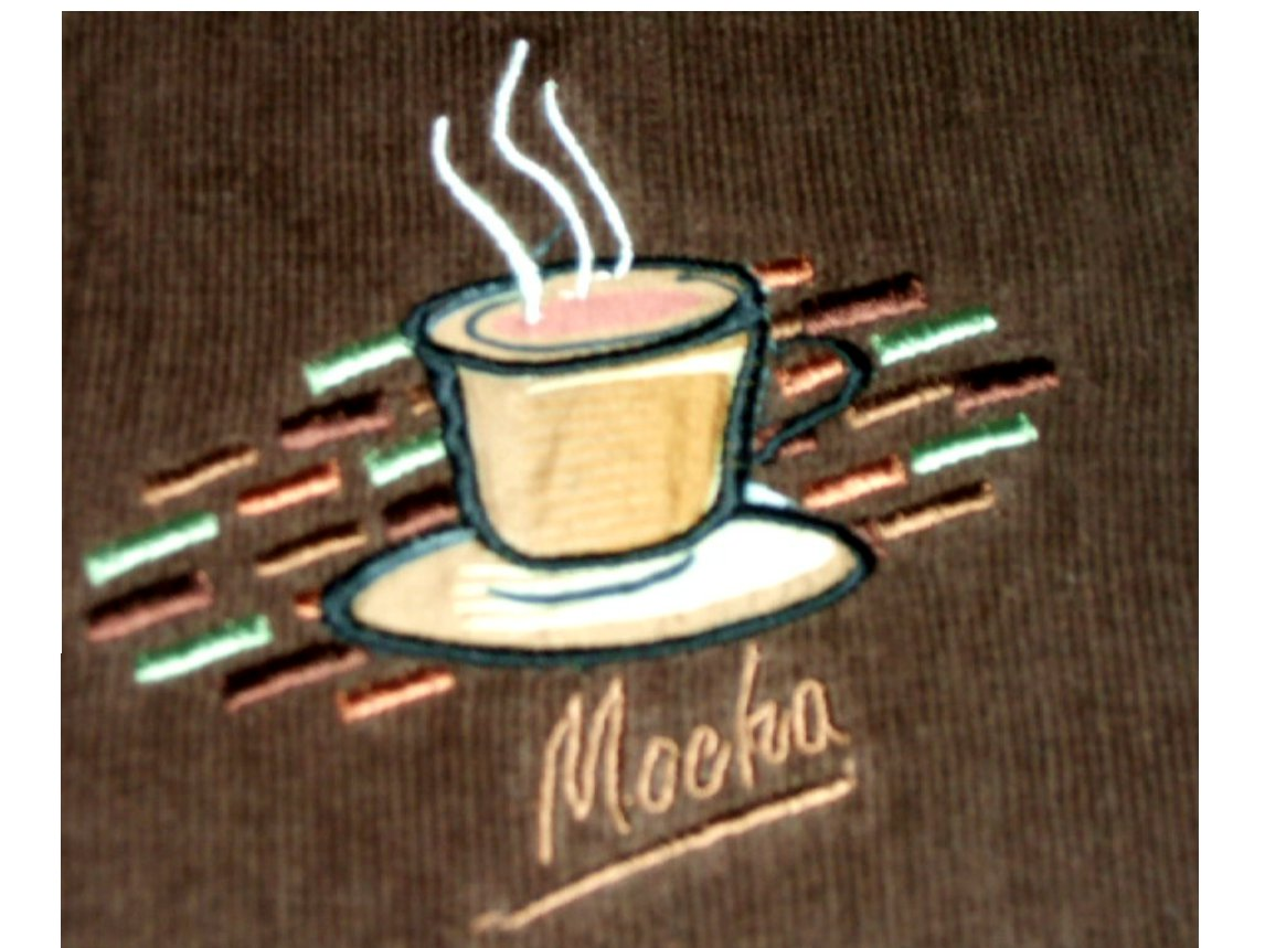 Coffee Themed Mocha Kitchen Towels Embroidered