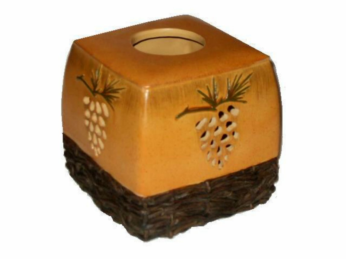 Pine Cone Tissue Box Cover Blonder Home