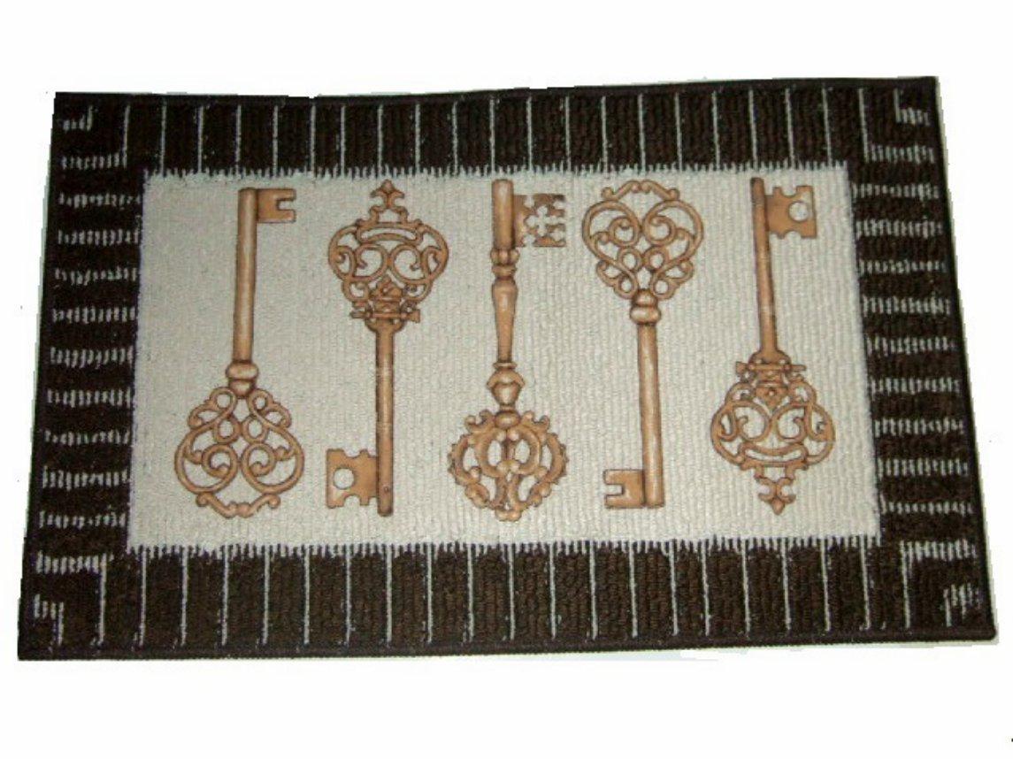Vintage Gold Skeletal Keys Rug