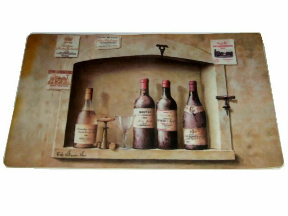 Wine Bottles Kitchen Comfort Mat