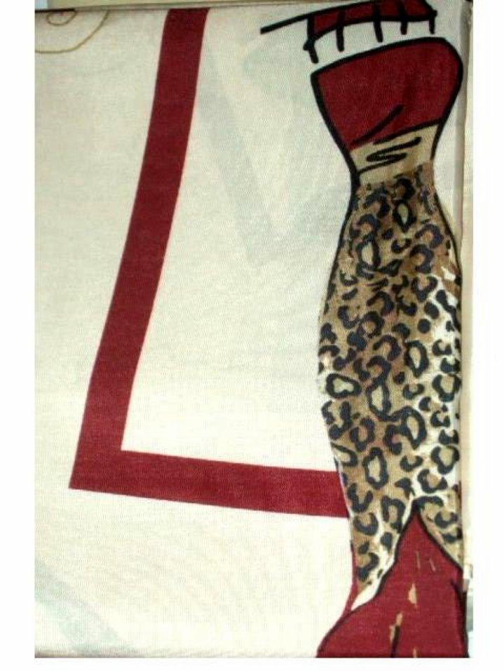 Chic Dresses Fabric Animal Prints Shower Curtain Popular Bath