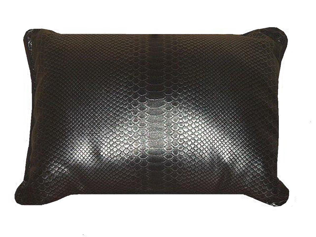 Faux Snake Skin Black Decorative Pillow