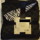 Black Zebra Print Reversible Satin Quilt Full Queen
