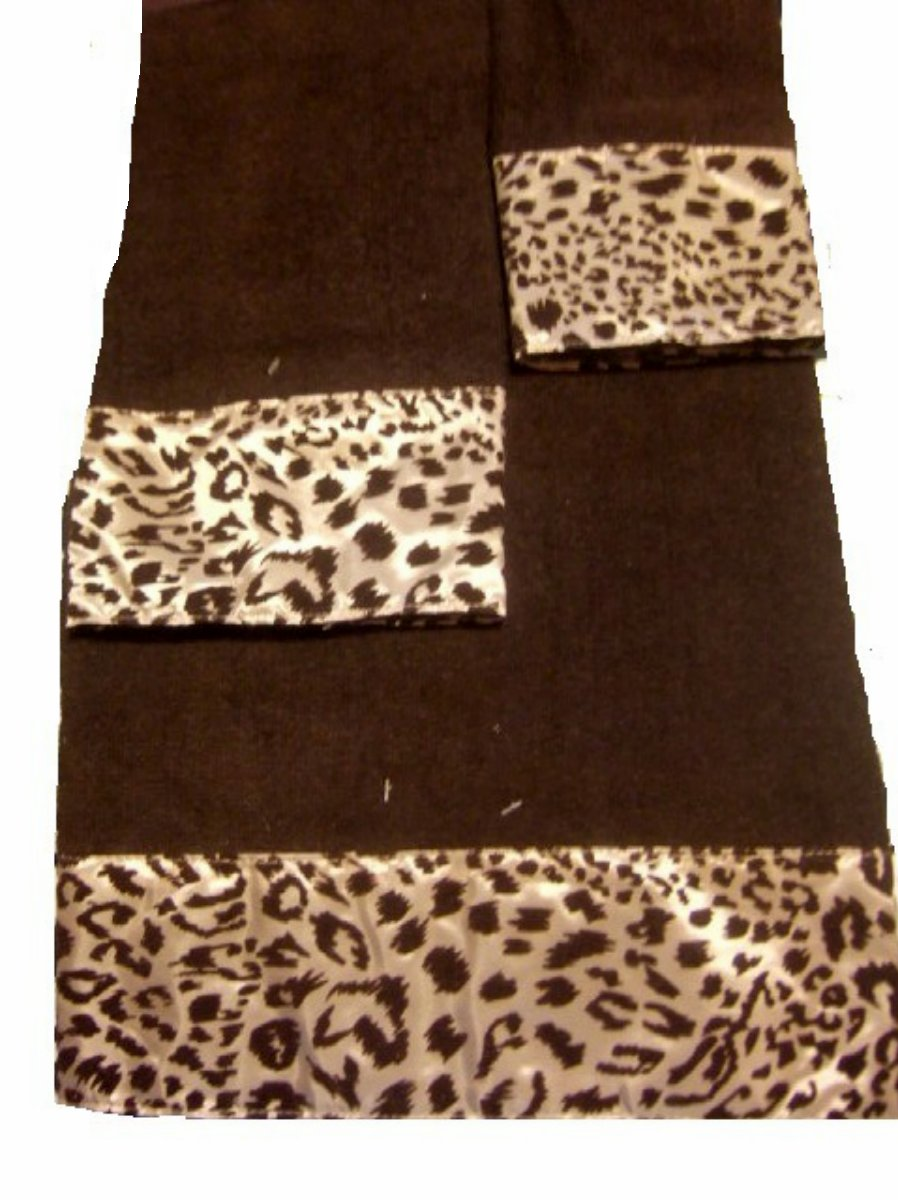 Leopard Print Bath Towel Set