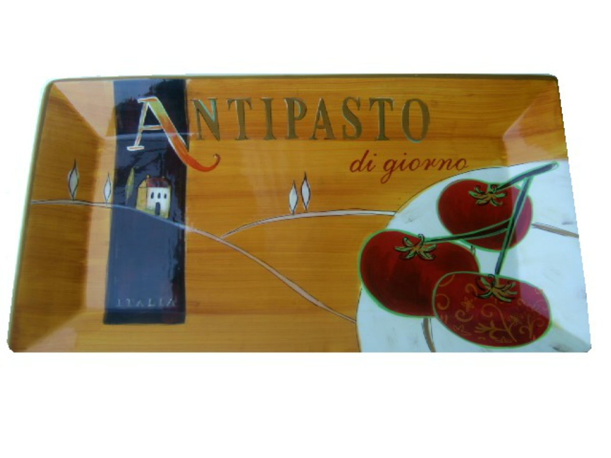 Hand Painted Earthenware Tuscan Themed Platter