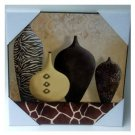 Animal Print Vases Wood Wall Art Plaque