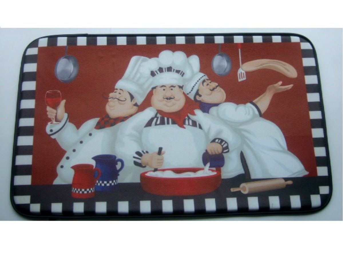 Italian Fat Chefs Kitchen Rug Comfort Mat