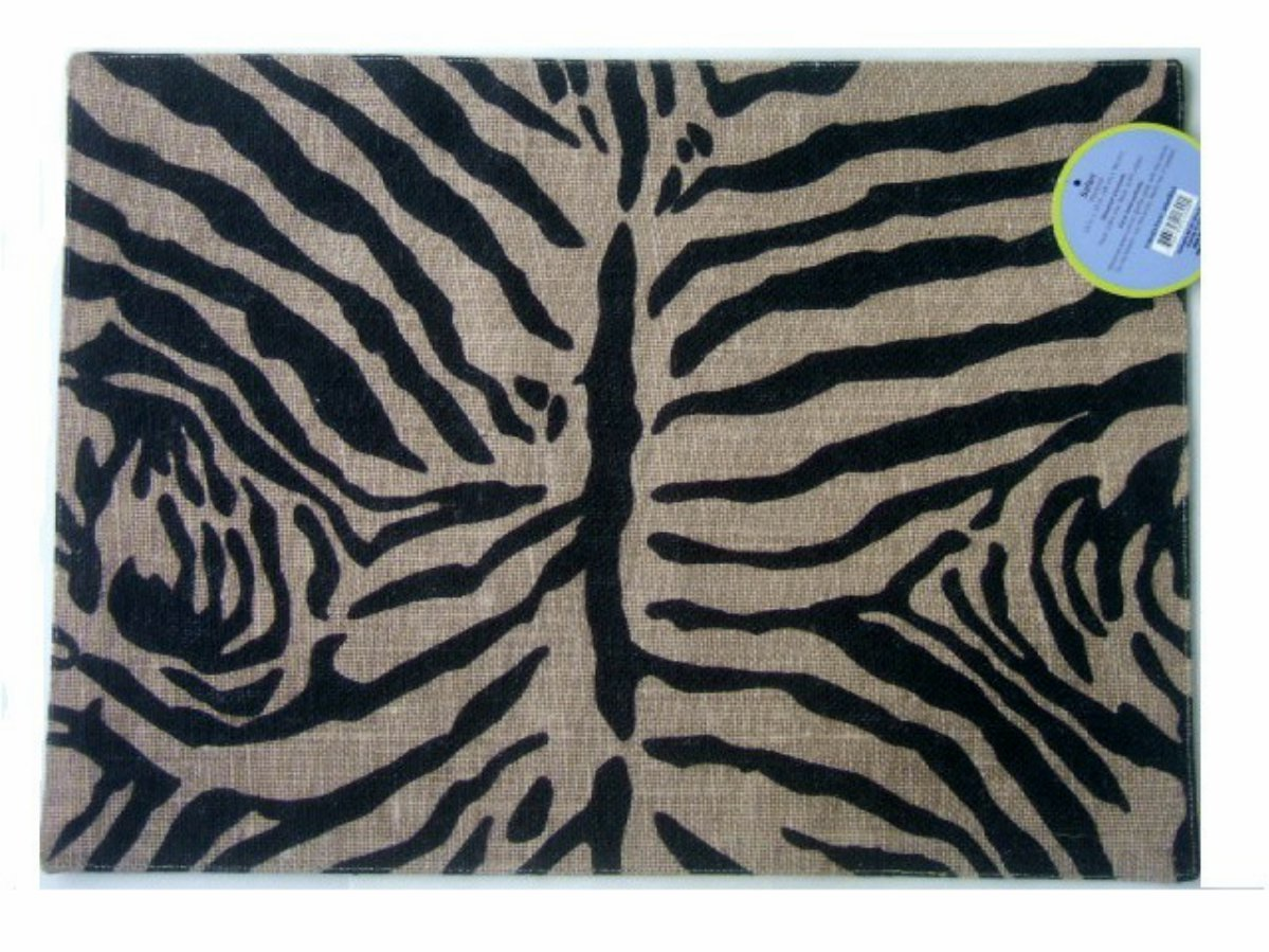 Safari Animal Print Placemats Set