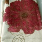 Cream and Plum Floral Fabric Shower Curtain