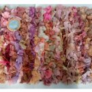 Pink Orange Lavender Chindi Rug Ribbon Mat