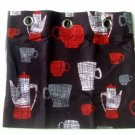 Coffee Cups Kitchen Curtains Tier Pair Cafe