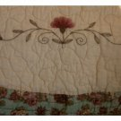 Embroidered Quilted Roses Window Valance