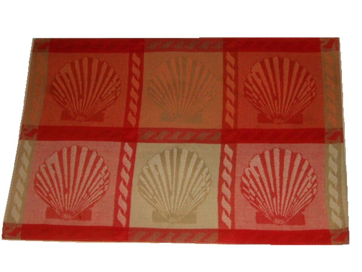 Nautical Seashells Fabric Placemats Set