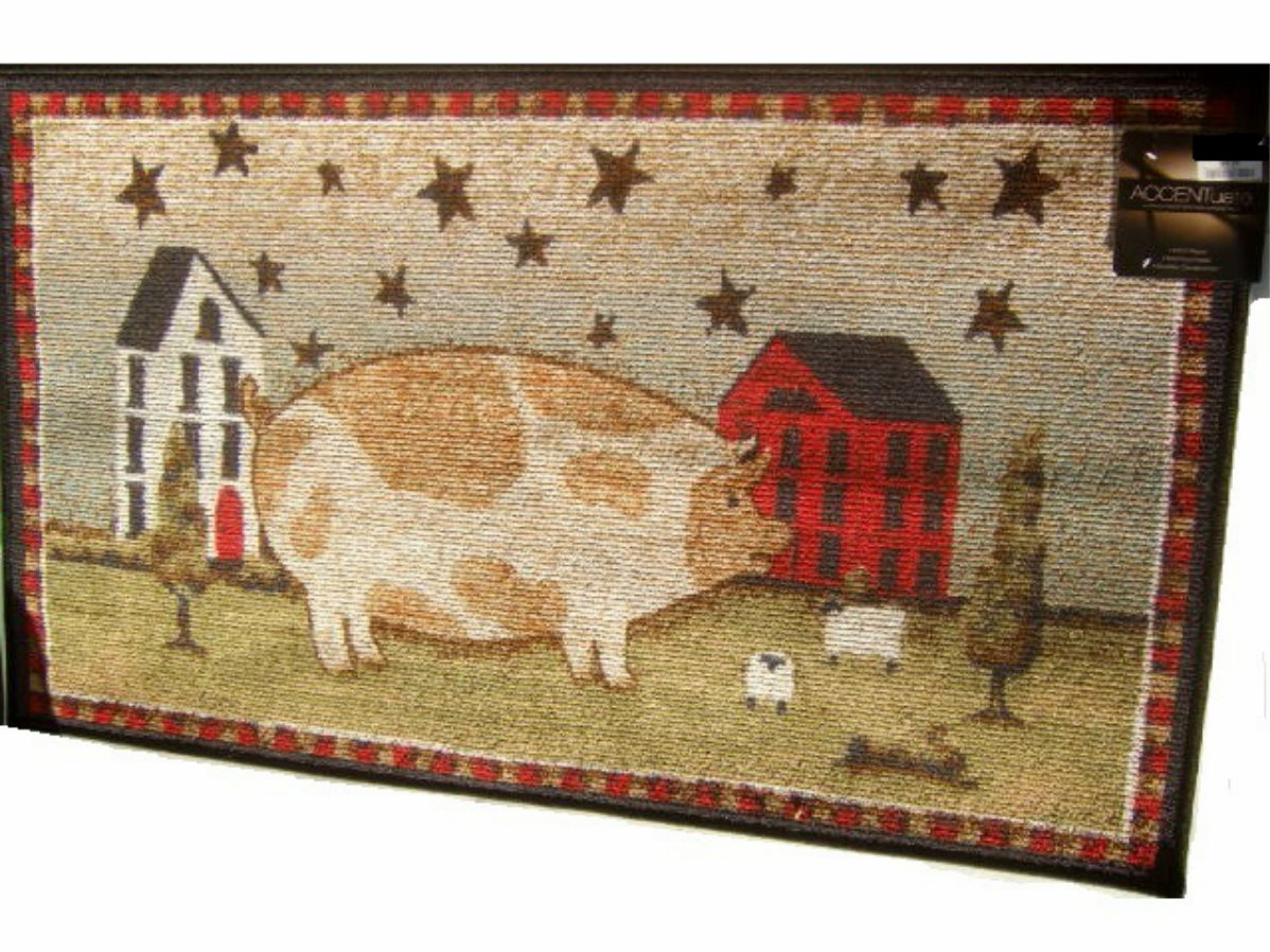 Country Americana Large Decorative Area Rug