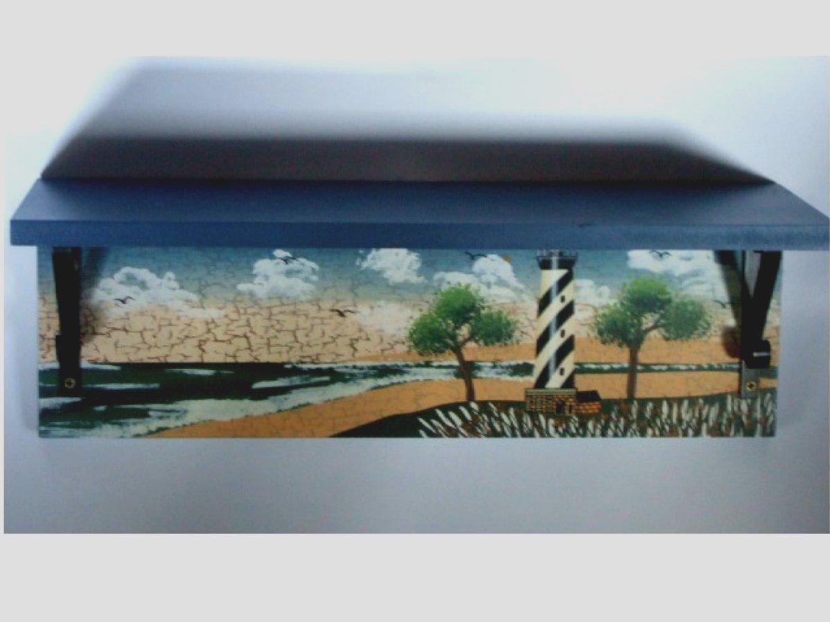Lighthouse Wall Shelf Beach Decor
