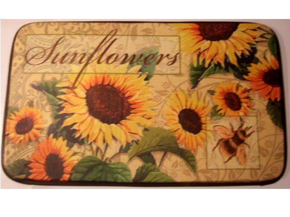 Sunflowers Cushion Comfort Kitchen Rug