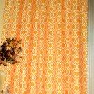 Geometric Corn Yellow Fabric Shower Curtain