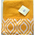 Yellow Geometric Bath Towel
