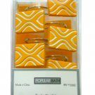 Geometric Yellow Resin Shower Curtain Hooks Popular Bath