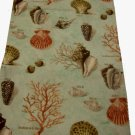 Raymond Waites Coastal Table Runner Seashells and Coral