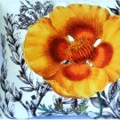 Floral Pansy Throw Pillow