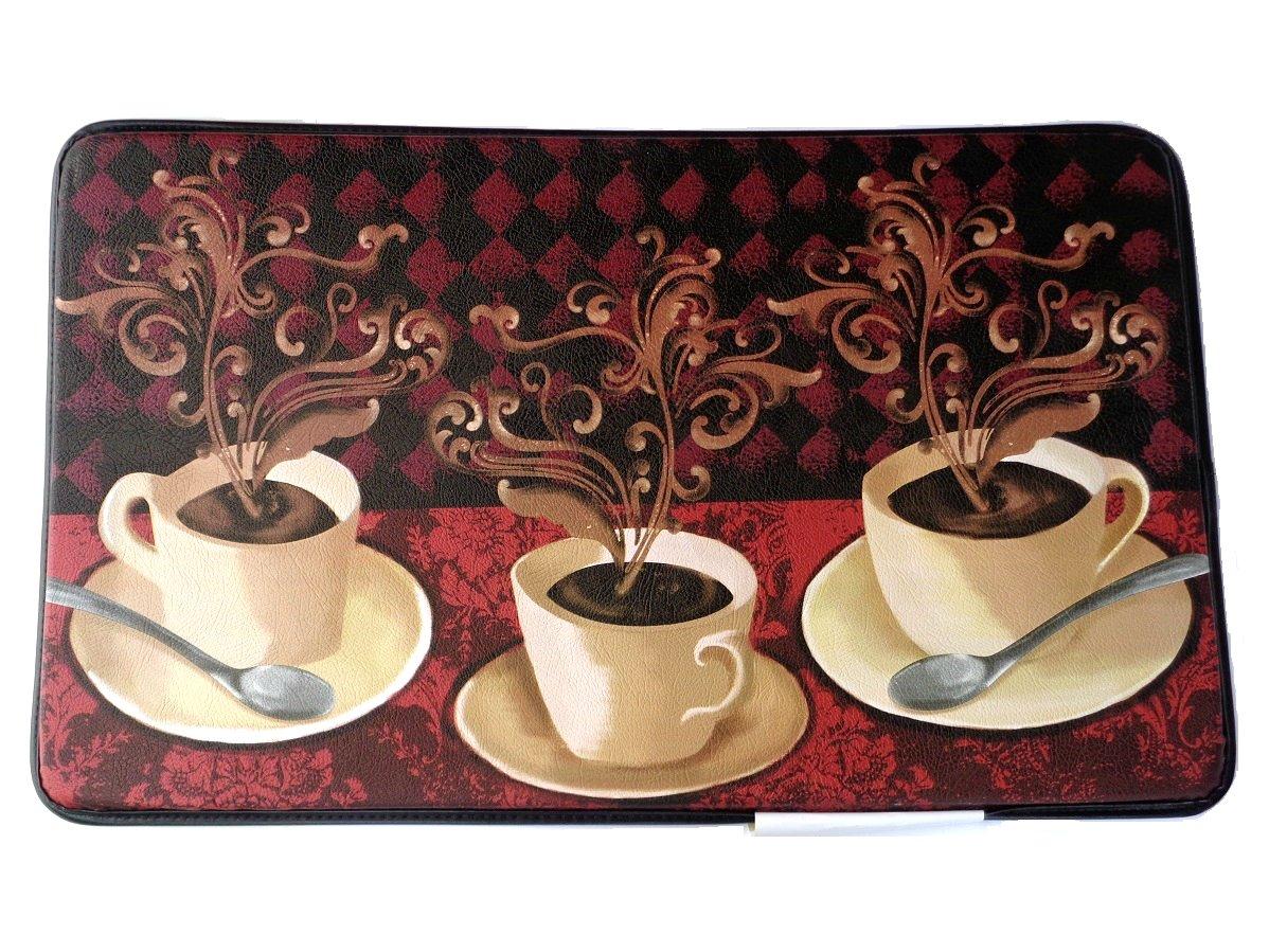 Coffee Cups Memory Foam Kitchen Rug