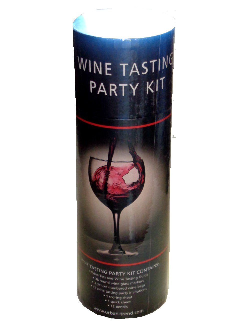 Wine Tasting Party Kit Glasses Markers Bags Invitations