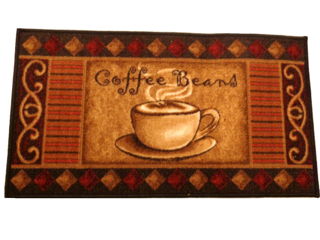 Coffee Themed Kitchen Rug