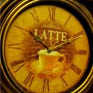Coffee Cup Latte Coffee Kitchen Wall Clock