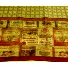 Tuscan Wine Labels Kitchen Curtains Complete Window Treatments Set Tiers Valance
