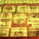 Tuscan Wine Labels Kitchen Curtains Valance Merlot