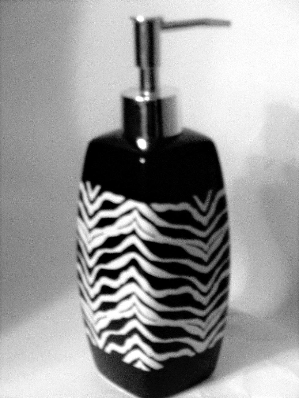Zebra Stripe Lotion Pump Soap Dispenser Popular Bath
