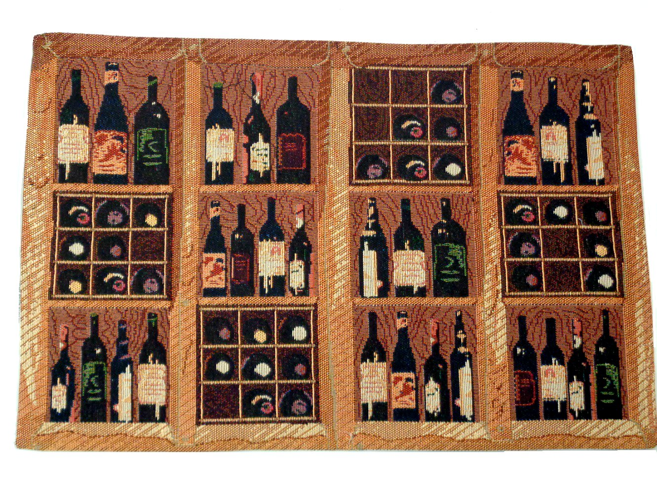 Wine Bottles Placemats Crates of Wine