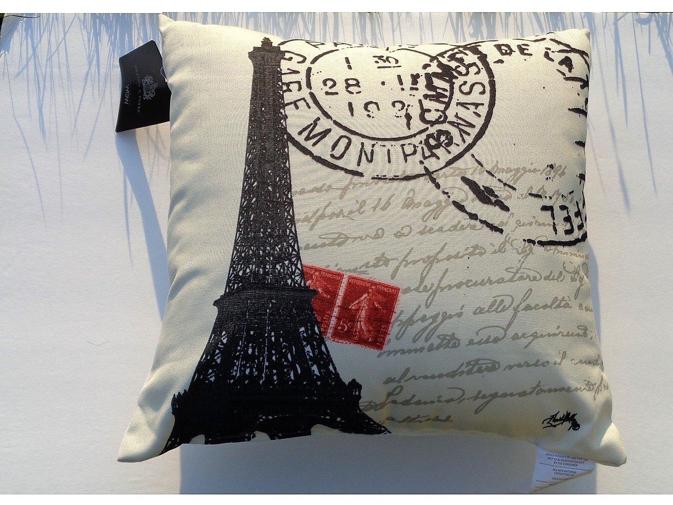 Eiffel Tower Paris Decorative Couch Pillow