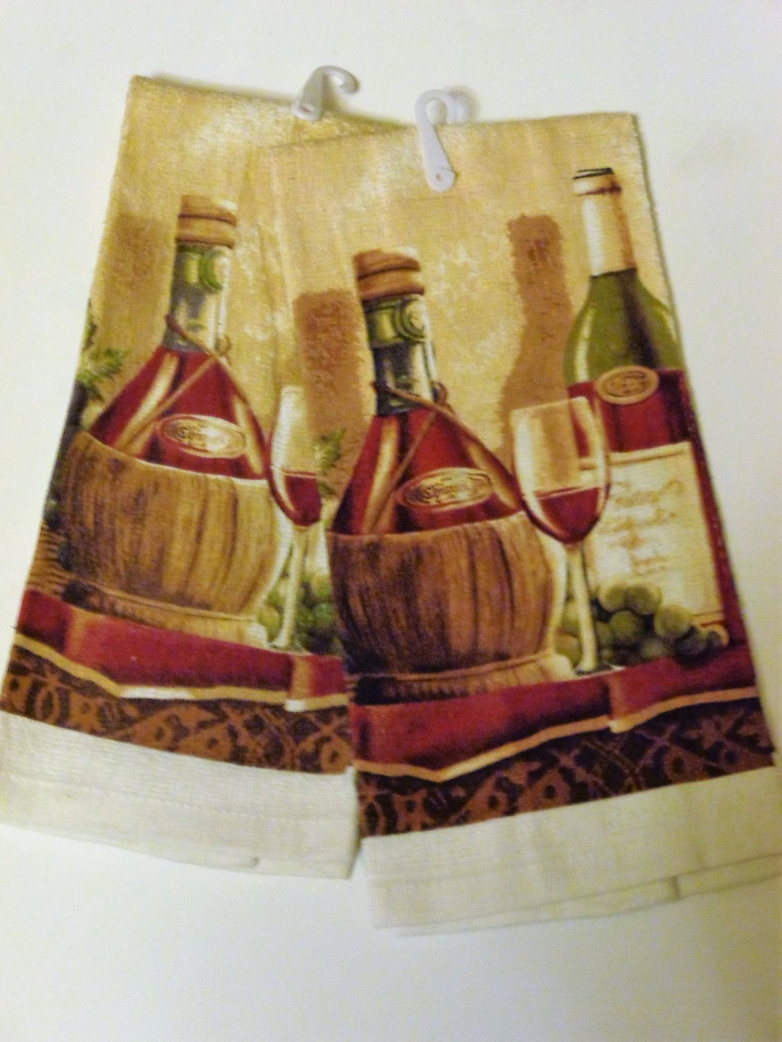 Tuscan Wine Grapes Kitchen Towels Set