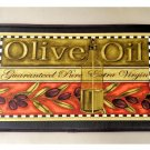 Tuscan Olives Kitchen Comfort Mat .Olive Oil Bottle Rug